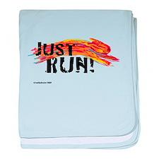 Just RUN! baby blanket