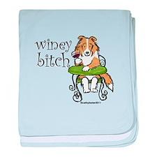 Winey Bitch Sheltie baby blanket