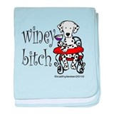 Winey Dalmatian baby blanket