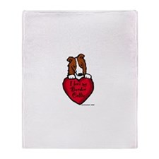 Border Collie (red) Love Throw Blanket