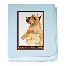 Red Australian Terrier Beg baby blanket