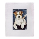 Jack Russell Terrier 2 Throw Blanket