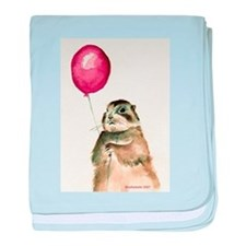 Prairie Dog With Balloon baby blanket