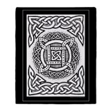 Celtic Knotwork 4-Sqr Circle Throw Blanket