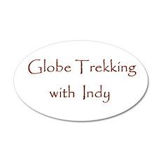 Globe Trekking w/Indy 20x12 Oval Wall Decal