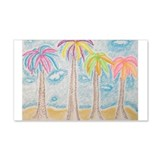 Colorful Palms Wall Decal