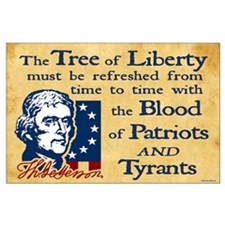 Thomas Jefferson Tree of Liberty Large Poster