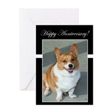 Happy Anniversary Welsh Corgi Card