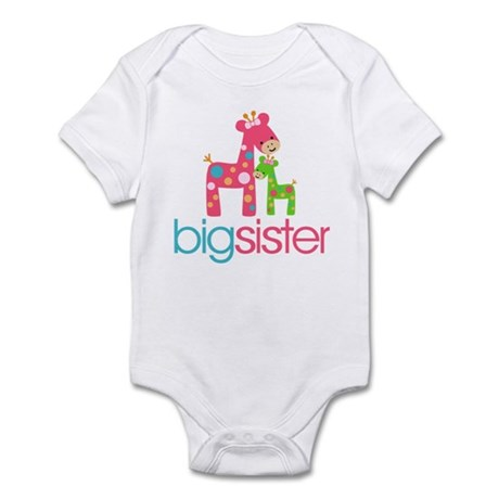 Funky Giraffe Big Sister Infant Bodysuit