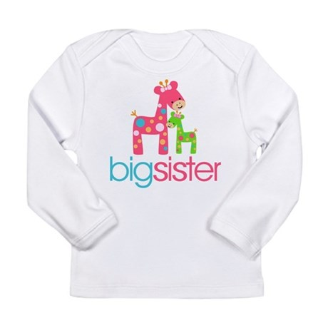 Funky Giraffe Big Sister Long Sleeve Infant T-Shir