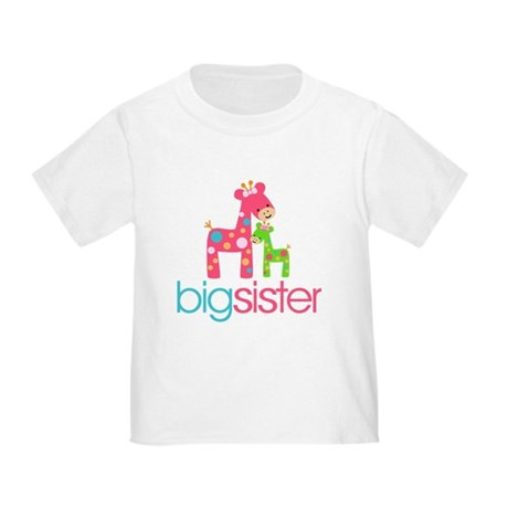 Funky Giraffe Big Sister Toddler T-Shirt