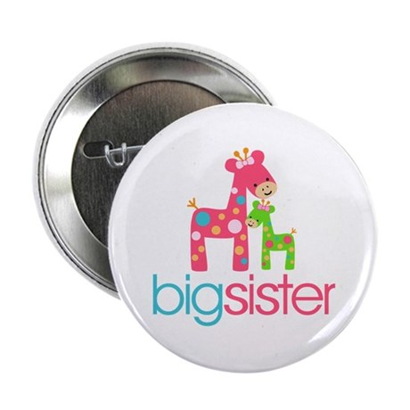 "Funky Giraffe Big Sister 2.25"" Button"