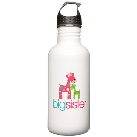 Funky Giraffe Big Sister Stainless Water Bottle 1.