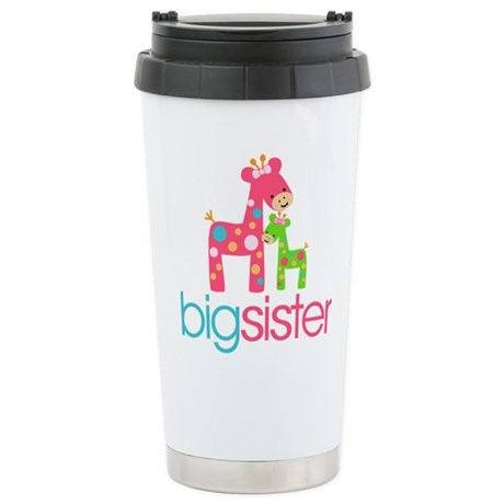 Funky Giraffe Big Sister Ceramic Travel Mug