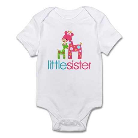 Funky Giraffe Little Sister Infant Bodysuit