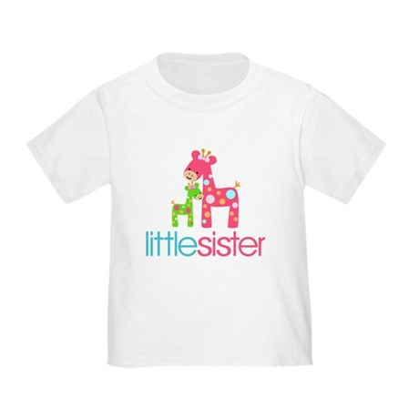 Funky Giraffe Little Sister Toddler T-Shirt