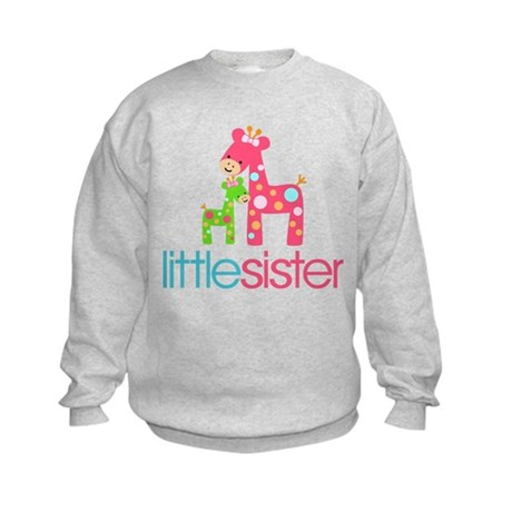 Funky Giraffe Little Sister Kids Sweatshirt