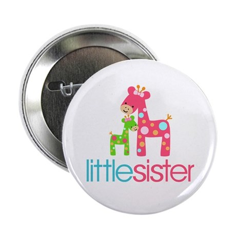 "Funky Giraffe Little Sister 2.25"" Button"