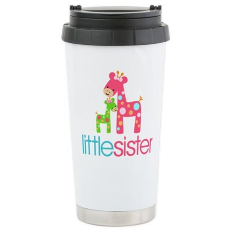 Funky Giraffe Little Sister Ceramic Travel Mug