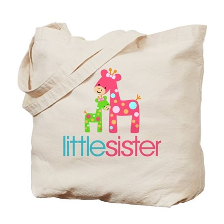 Funky Giraffe Little Sister Tote Bag