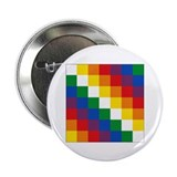 "Bolivia Wiphala 2.25"" Button (10 pack)"