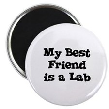"My Best Friend is a Lab 2.25"" Magnet (10 pack)"