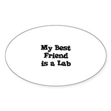 My Best Friend is a Lab Oval Decal