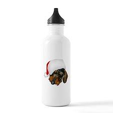 Santa Dachshund Water Bottle