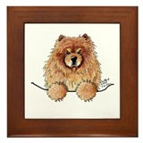Red Pocket Chow Framed Tile