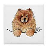 Red Pocket Chow Tile Coaster