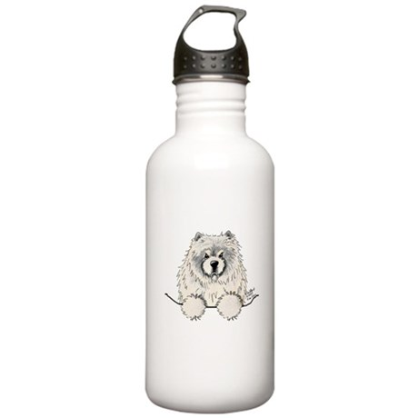 Cream Pocket Chow Chow Stainless Water Bottle 1.0L