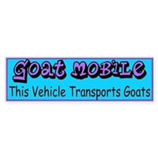 GOATS-Goat Mobile Bumper Car Sticker