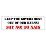 Stop NAIS text Bumper Bumper Sticker