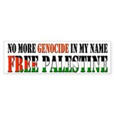 No More Genocide Bumper Sticker