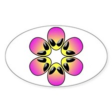pink alien flower power Decal