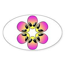 pink alien flower power Decal