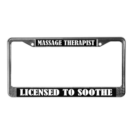 Massage Therapist License Frame