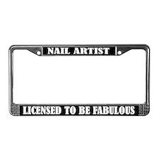 Nail Artist License Frame