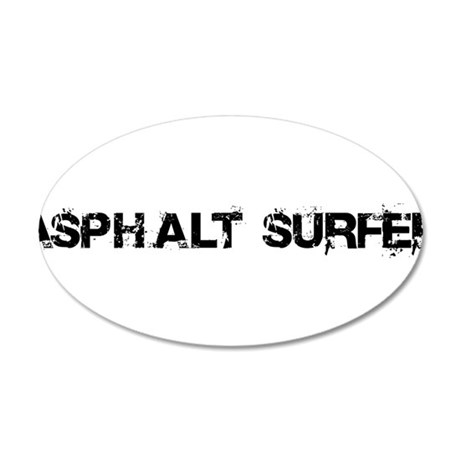Asphalt Surfer 20x12 Oval Wall Decal