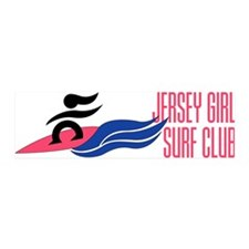 Jersey Girl Surf Club 42x14 Wall Peel