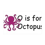 O is for Octopus 38.5 x 24.5 Wall Peel