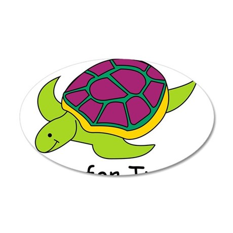 T is for Turtle 38.5 x 24.5 Oval Wall Peel