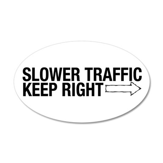 Slower Traffic 38.5 x 24.5 Oval Wall Peel