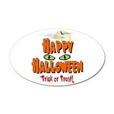 Happy Halloween 22x14 Oval Wall Peel