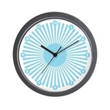 Blueberry Burst Wall Clock with numbers