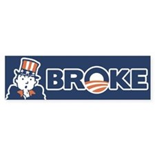 BrOke Uncle Sam - w/word Bumper Sticker