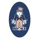 BrOke Uncle Sam - w/word Decal