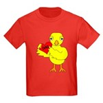Dad Heart Chick Kids Dark T-Shirt
