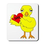 Dad Heart Chick Mousepad