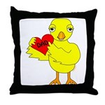 Dad Heart Chick Throw Pillow